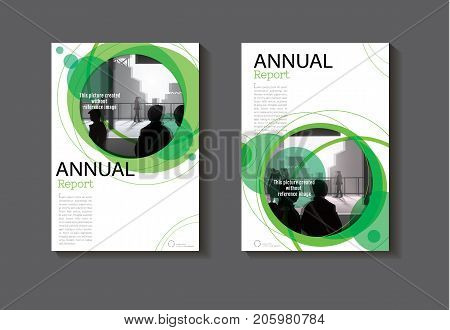 green Circle abstract cover design modern book cover abstract Brochure cover templateannual report magazine and flyer layout Vector a4