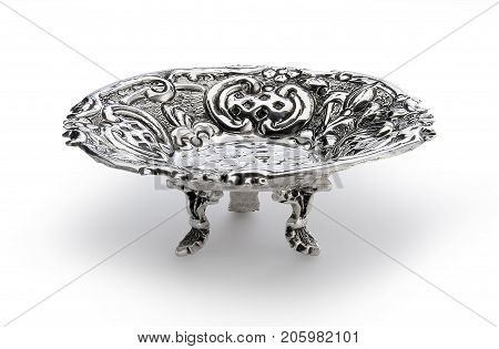 Round Bowl Embossed With Feet Sheffield
