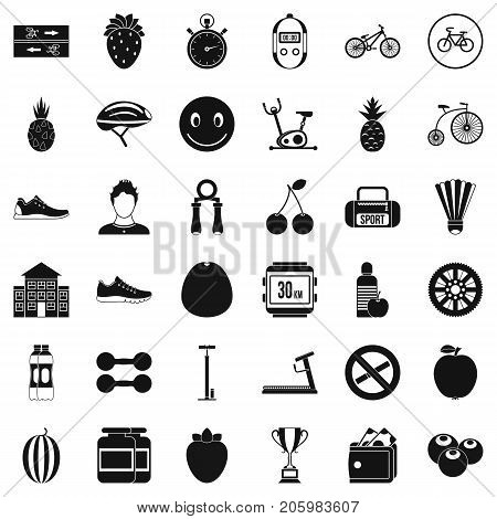Protein icons set. Simple style of 36 protein vector icons for web isolated on white background