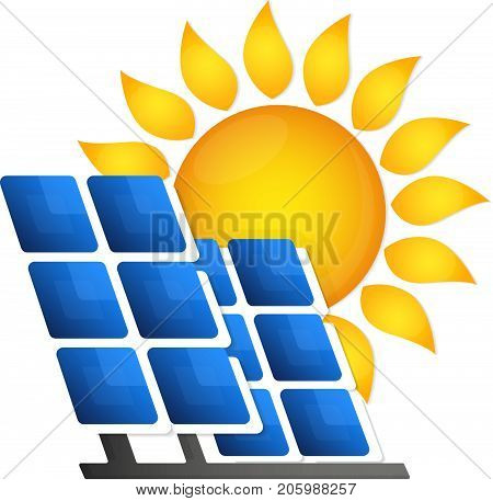 Solar panels alternative energy source vector generation