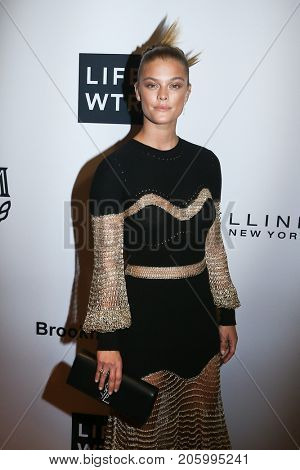 NEW YORK-SEP 8: Model Nina Agdal attends the Daily Front Row's 2017 Fashion Media Awards at the Four Seasons Hotel New York Downtown on September 8, 2017 in New York City.