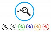 Explore Stats rounded icon. Style is a flat explore stats grey symbol inside light blue circle with black, gray, green, blue, red, orange versions. Vector designed for web and software interfaces. poster