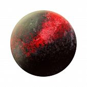 New 9 Red planet discovery. Ninth gas giant opening. Solar System - new planet. Isolated planet on white background. High resolution beautiful art presents planet of the solar system. 3D illustration. poster