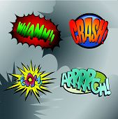 Superhero Bashing #3 - Comic fighting bubbles of super heroes poster