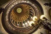 Dome of State Capitol Building. Springfield Illinois USA. poster