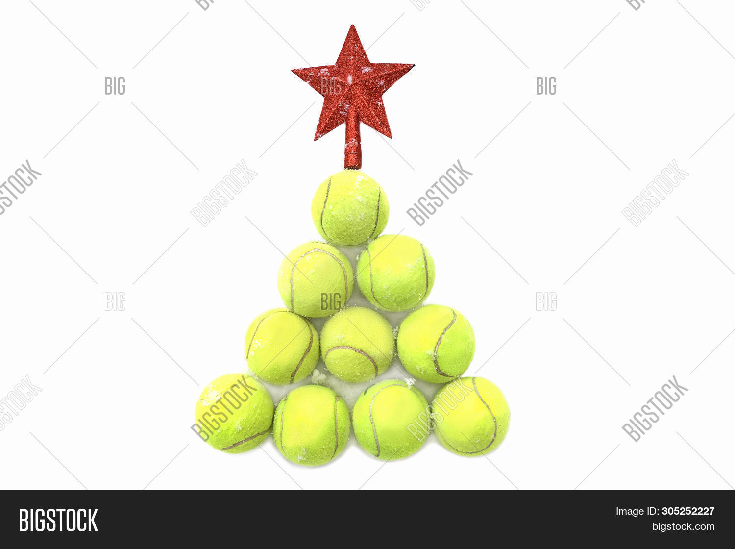 Christmas Sports Background.Red Star On Tennis Image Photo Free Trial Bigstock