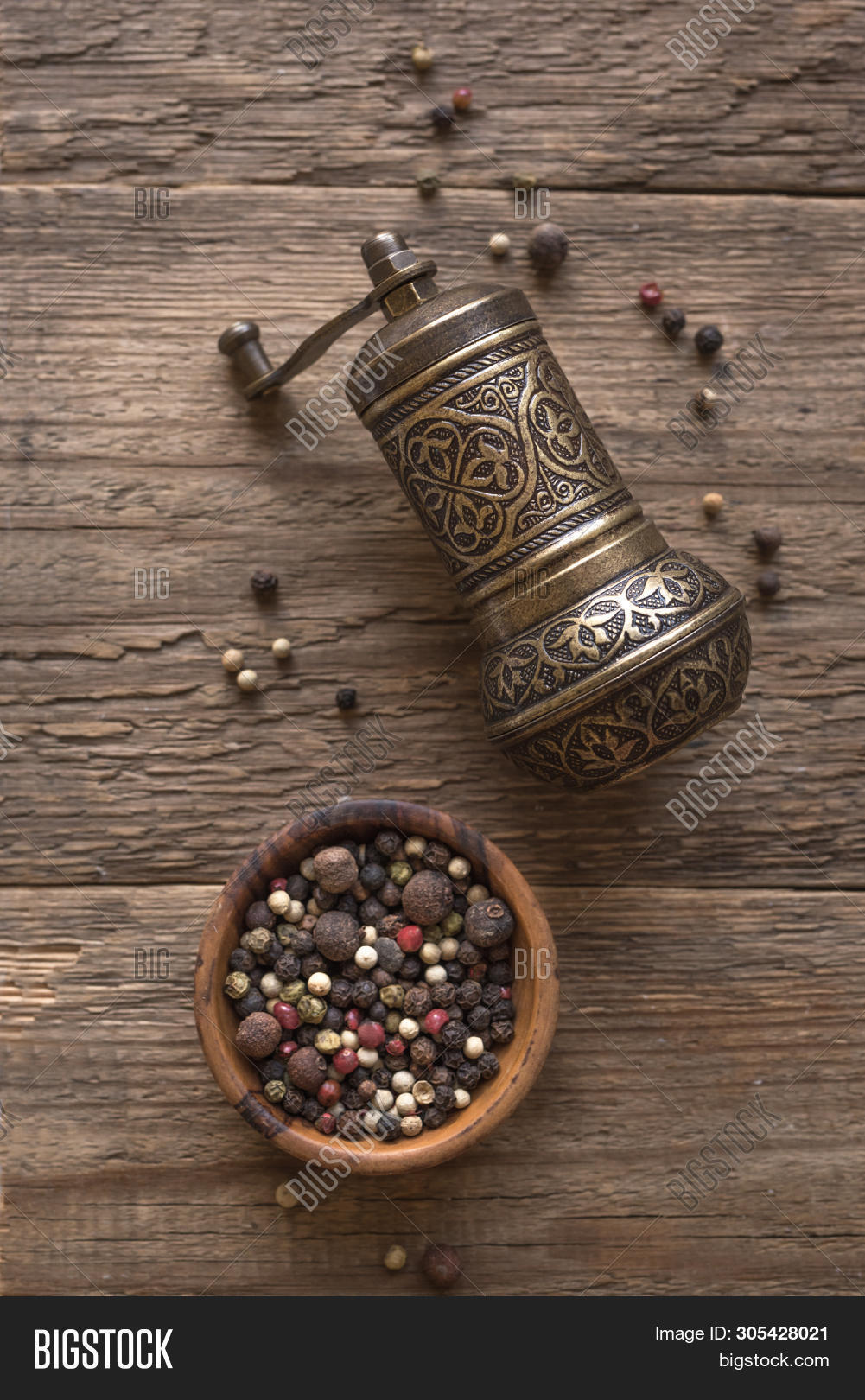 Vintage Pepper Mill Image Photo Free Trial Bigstock