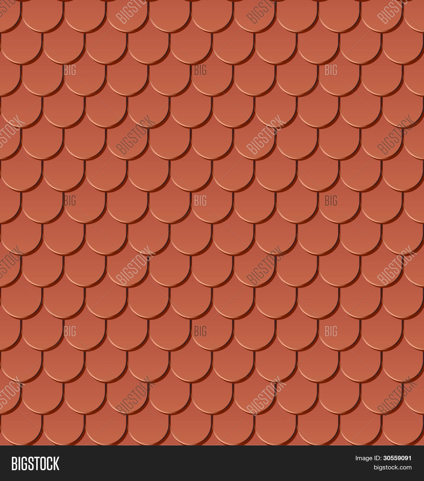Clay roof tiles seamless vector vector photo bigstock for Roof tile patterns
