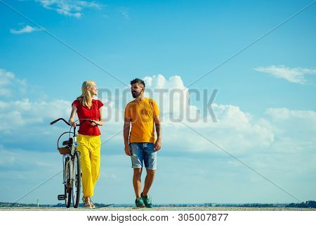 Sky Background For Your Text. Beautiful Summer Day. Summer Vacation. Enjoying Time Together. Summer