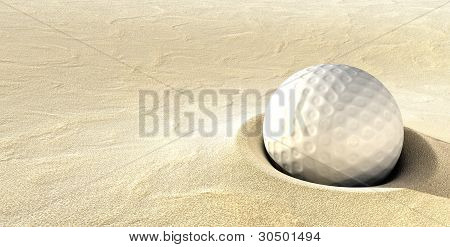Plugged Golf Ball