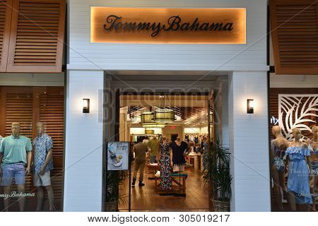 Houston, Tx - Apr 22: Tommy Bahama Store At The Galleria Mall In Houston, Texas, As Seen On Apr 22,