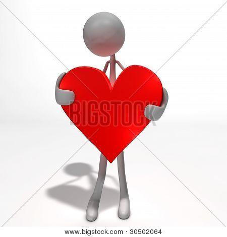 Figure Is Holding A Heart