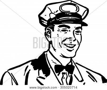 Friendly Service Man 3 - Retro Clip Art Illustration