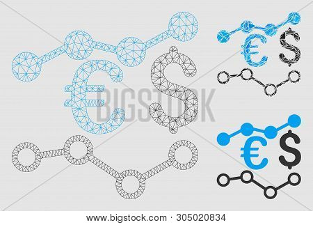 Mesh Currency Charts Vector Photo