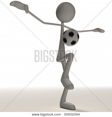 Figure Is Juggling A Football