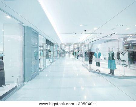 Long corridor and showcase