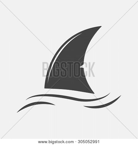 Shark Fin Vector Icon. Fin In The Water.layers Grouped For Easy Editing Illustration. For Your Desig