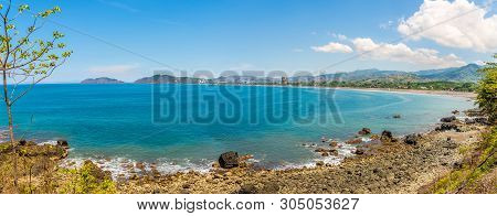 Panoramic View At The Bay With Beaches Near Jaco City - Costa Rica