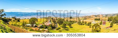 Panoramic View To Valley Of Cartago City - Costa Rica