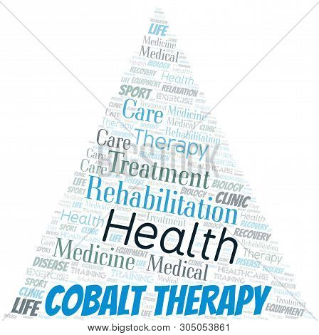 Cobalt Therapy Word Cloud. Wordcloud Made With Text Only.