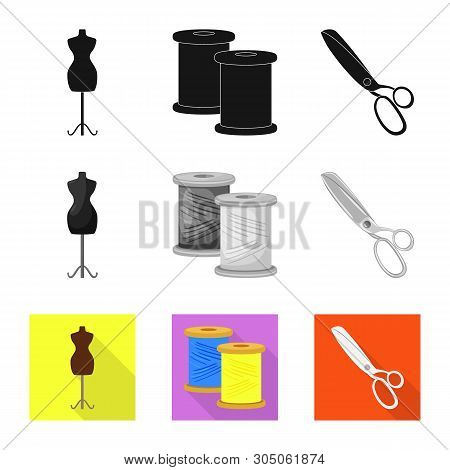 Vector Design Of Craft And Handcraft Sign. Set Of Craft And Industry Stock Vector Illustration.