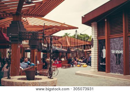 Tirana, Albania. May 2019: Historical Particular Of The Market In Tirana, New Tourist Attraction In
