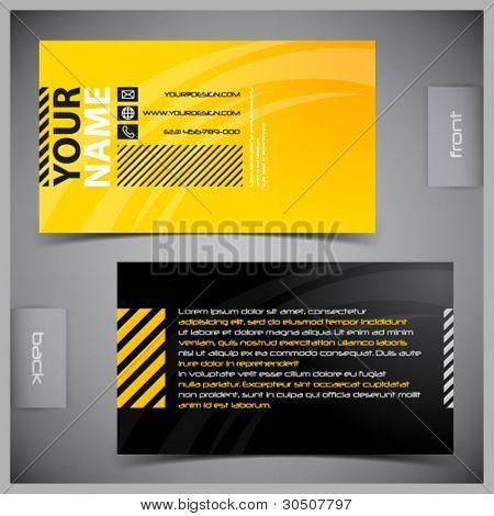 Vetor abstratos criativos cartões de visita (modelo de conjunto)