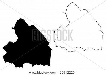 Drenthe Province (kingdom Of The Netherlands, Holland) Map Vector Illustration, Scribble Sketch Dren
