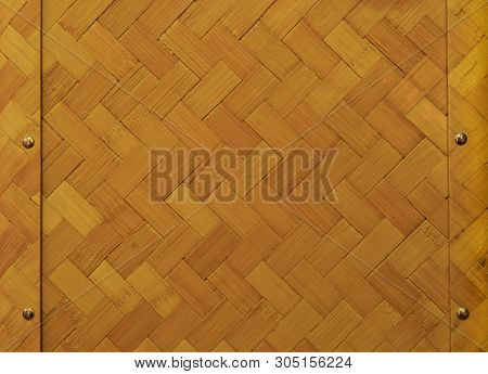 Basketwork Wall Texture Close Up For Background User