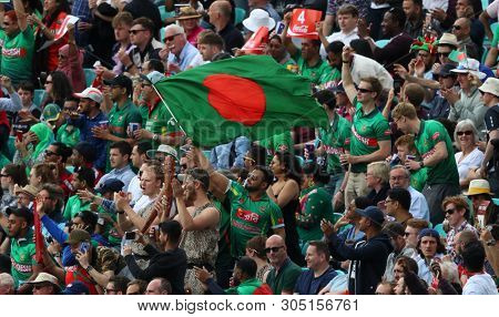 LONDON, ENGLAND. 05 JUNE 2019: A general view of fans during the Bangladesh v New Zealand, ICC Cricket World Cup match, at the Kia Oval, London, England.