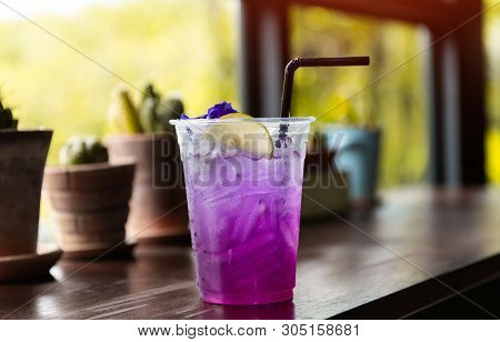 Ice And Cold Sweet Soda Drink.
