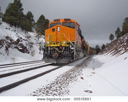 Wintertime railroading
