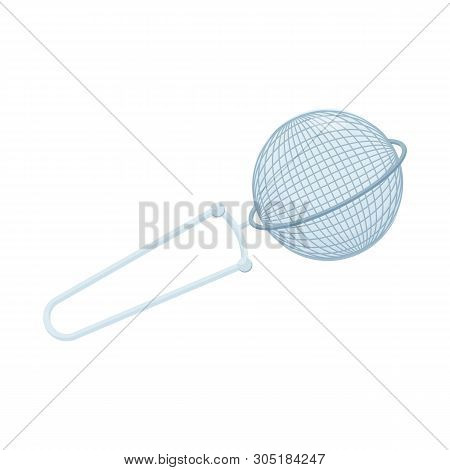 Isolated Object Of Strainer And Tea  Sign. Set Of Strainer And Tool  Stock Vector Illustration.