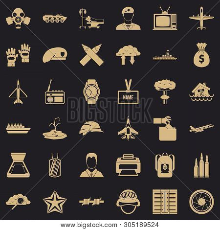 Feat Icons Set. Simple Set Of 36 Feat Vector Icons For Web For Any Design