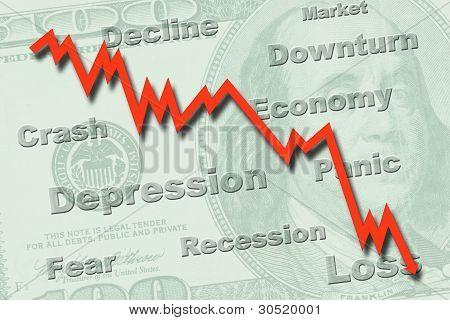 Economy Recession Concept