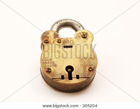Antique Brass Padlock