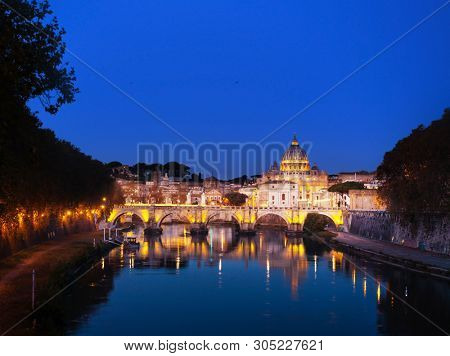 St. Peter's cathedral in  sunrise time, Rome, Italy