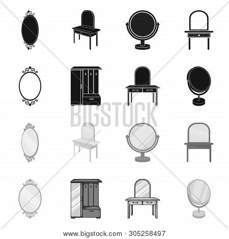 Vector Illustration Of Imagery And Decorative Icon. Collection Of Imagery And Silver Stock Symbol Fo