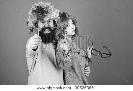 A Joy That Never Ends. Birthday Party. Father And Girl Child Enjoying Birthday Celebration. Happy Bi