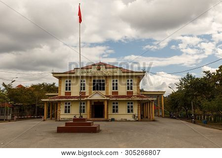 Tay Trang, Dien Bien, Vietnam - November 25, 2018: Tay Trang Border Crossing Station. Border Crossin