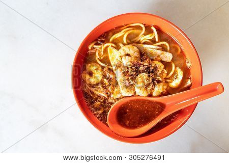 Penang Simple Authentic Prawn Mee Or Noodle With Shrimps