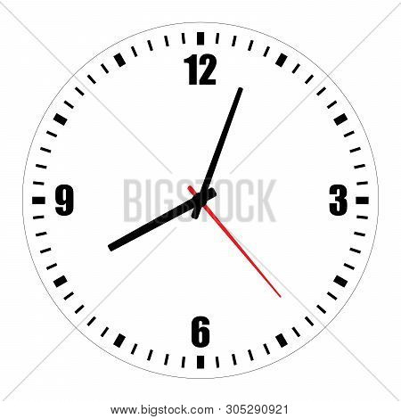picture about Printable Clock Face With Minutes known as Vector Instance Vector Image (Cost-free Demo) Bigstock