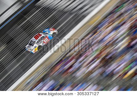 May 26, 2019 - Concord, North Carolina, USA: Kyle Busch (18) races off the turn during the Coca-Cola 600 at Charlotte Motor Speedway in Concord, North Carolina.