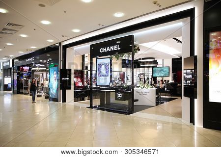 Large Chanel Store In The Shopping Center
