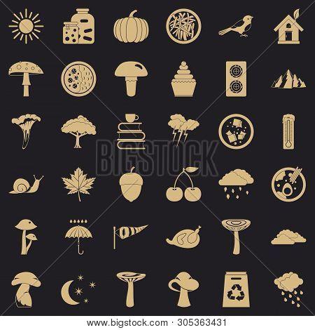 Afforestation Icons Set. Simple Set Of 36 Afforestation Vector Icons For Web For Any Design