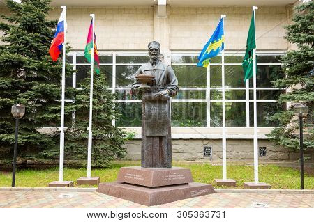 Anapa, Russia - May 13, 2019: Monument V.a. Budzinsky, Located At The Sanatorium