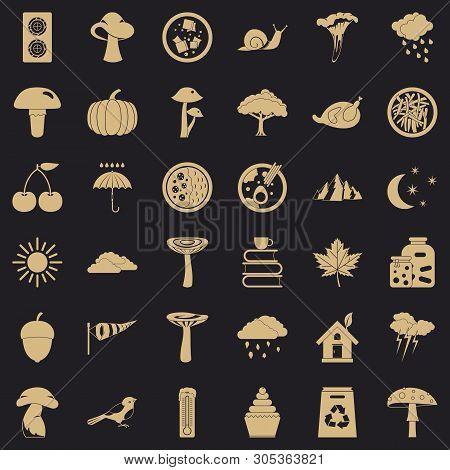 Forest Plantation Icons Set. Simple Set Of 36 Forest Plantation Vector Icons For Web For Any Design