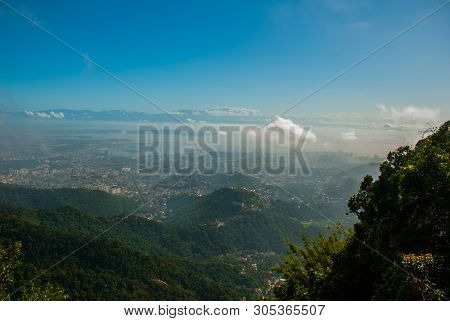 Panorama Of Rio De Janeiro Seen From Corcovado Mountain In Rio De Janeiro, Brazil