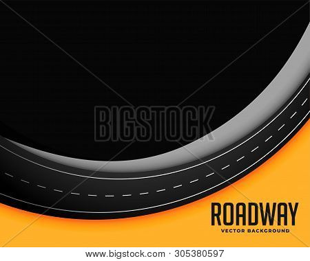 Roadway Background With Text Space Vector Illustration