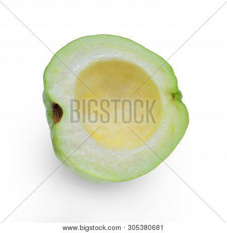 Fresh Guava Seedless Isolated On White Background